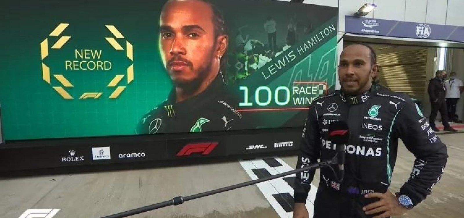 Hamilton escreve página inédita com 100ª vitória na Fórmula 1
