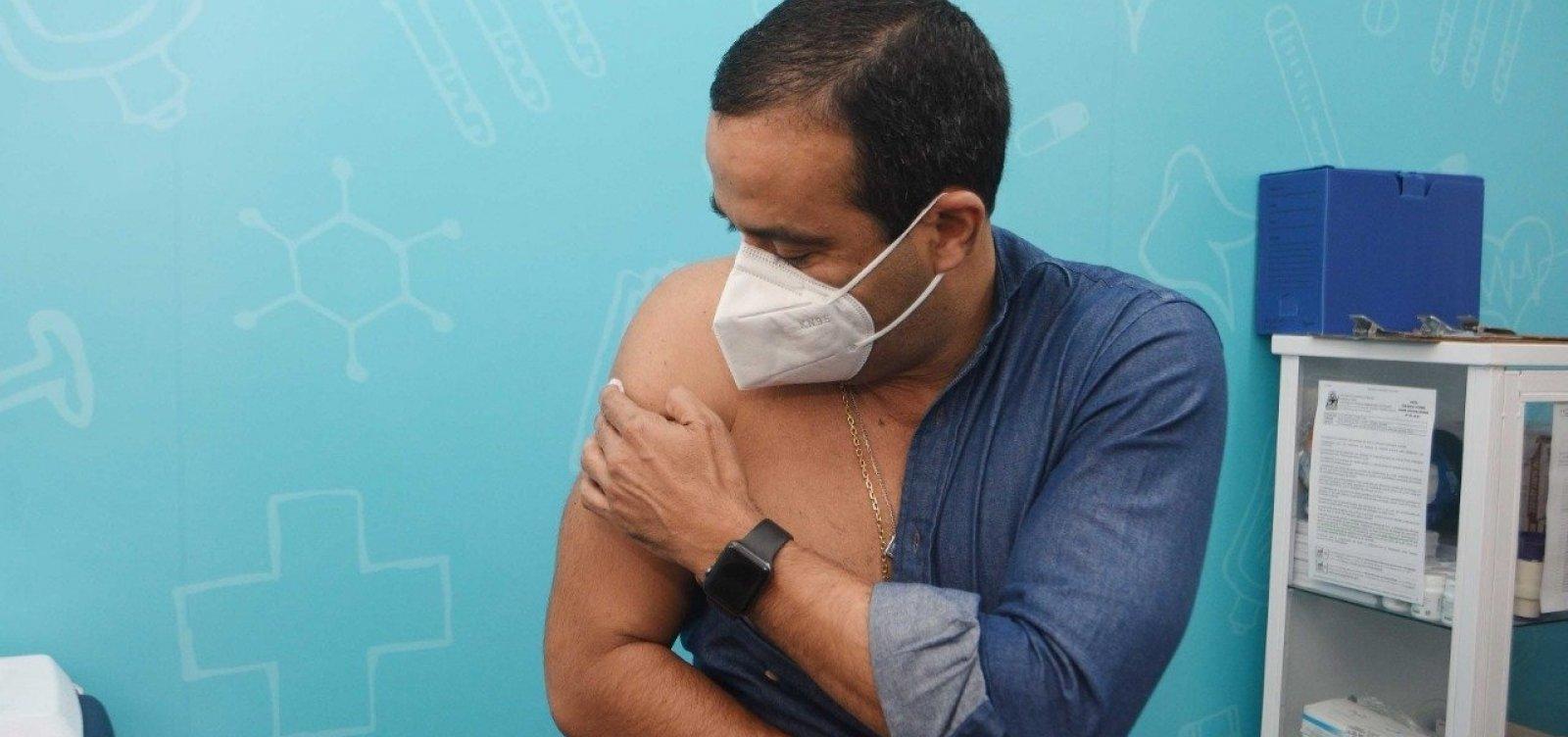 Covid: Bruno Reis recebe segunda dose de vacina e convoca faltosos a completar imunização