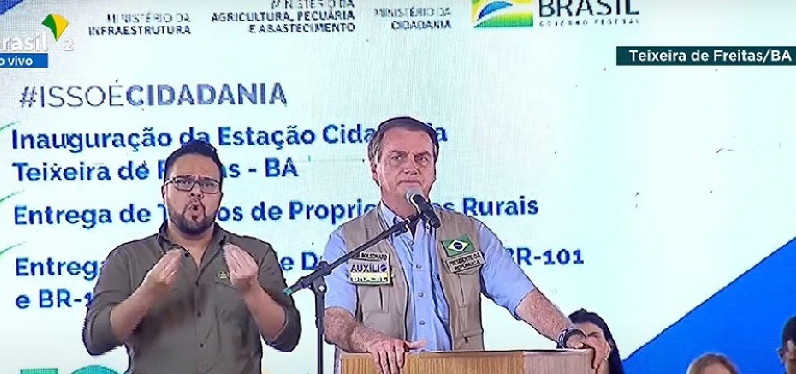 Na Bahia, Bolsonaro volta a atacar governadores e faz discurso exaltando auxílio emergencial