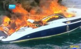 Incêndio atinge lancha próximo à Marina do Bonfim