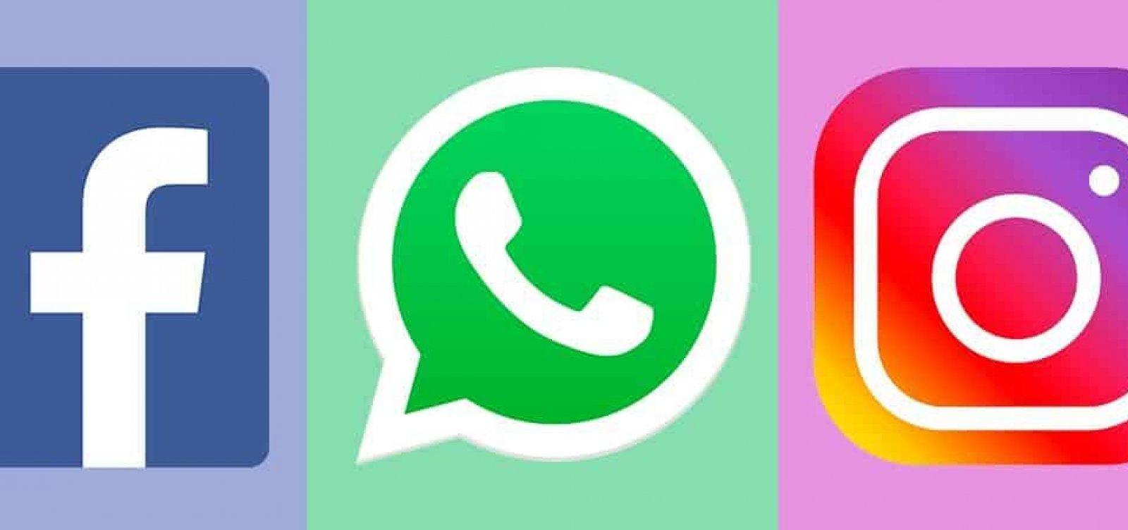 WhatsApp, Instagram e Facebook ficam instáveis e saem do ar
