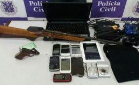 Polícia prende receptador com armas e celulares em Alagoinhas