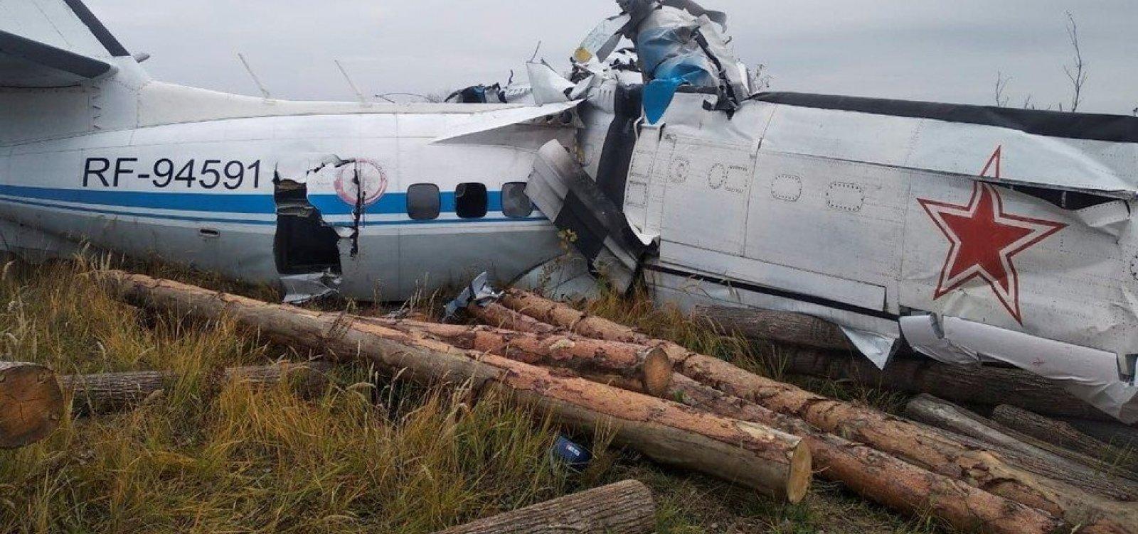 Queda de avião na Rússia deixa 16 pessoas mortas e seis gravemente feridas