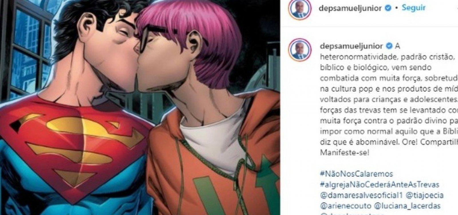 """""""Força das trevas"""", diz deputado baiano sobre Super-Homem bissesuxual"""