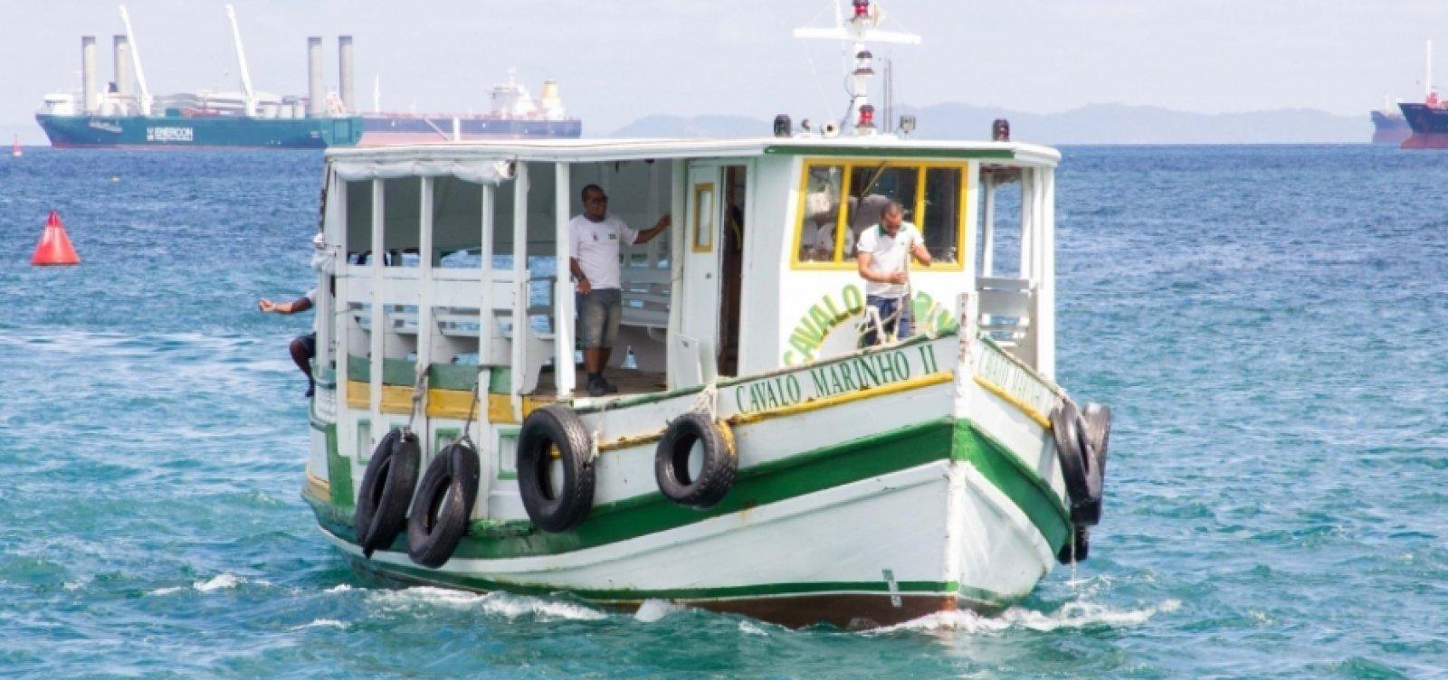 Por maré baixa, travessia Salvador - Mar Grande encerra mais cedo neste domingo