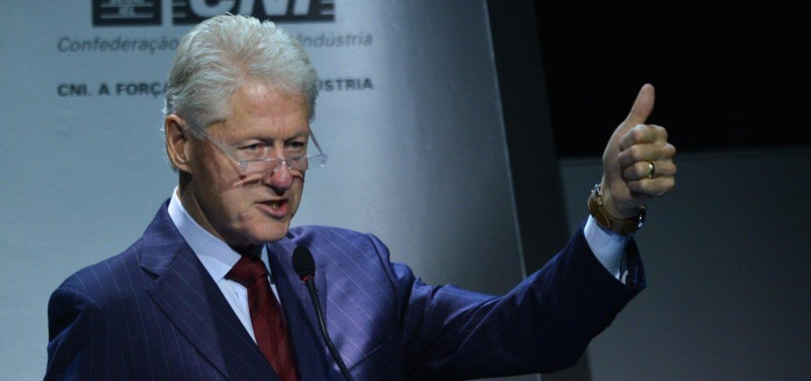 Após cinco dias internado, ex-presidente dos EUA, Bill Clinton, recebe alta