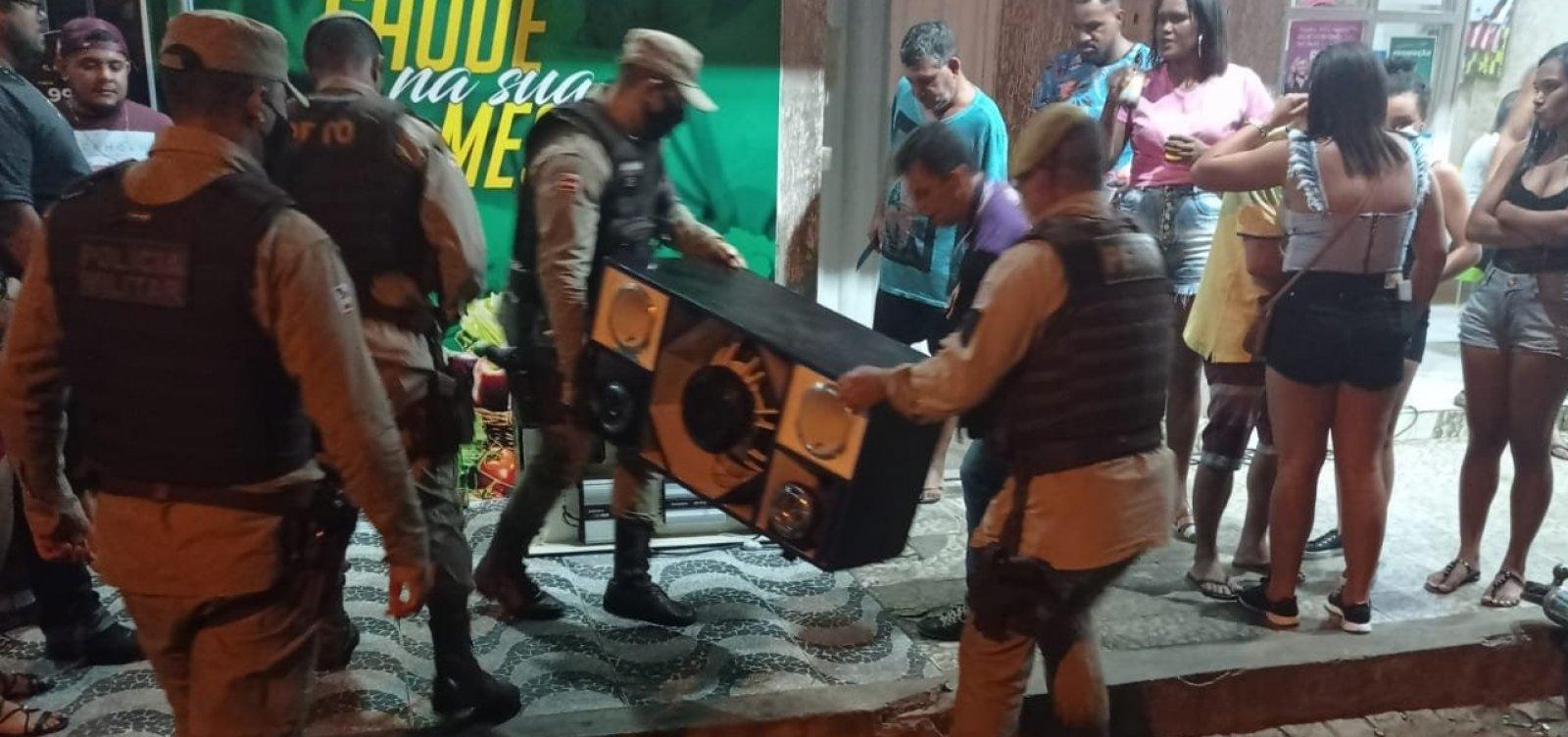 Operação Paredão: PM interrompe festa irregular em município do sudoeste da Bahia e apreende aparelhos de som
