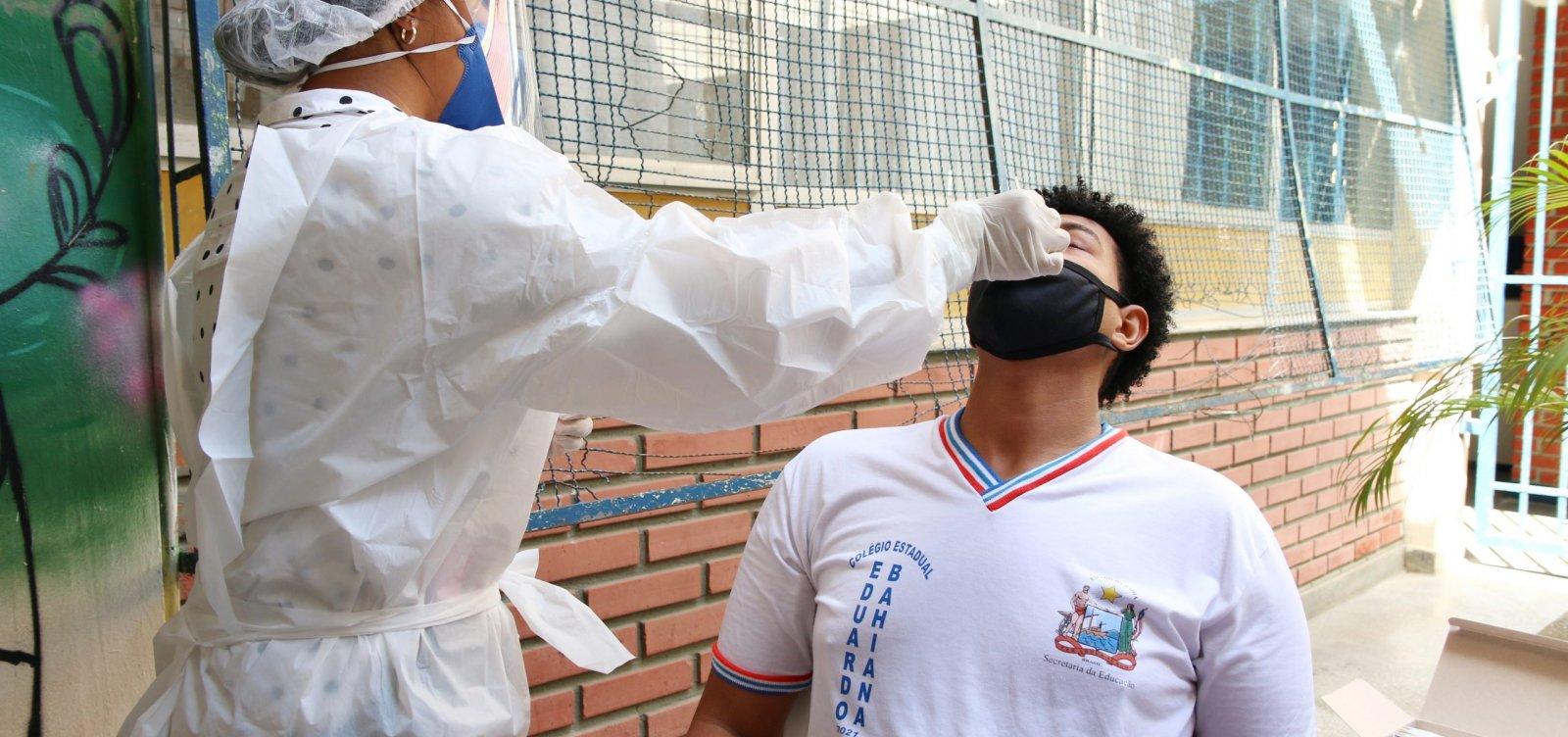 Com retorno presencial, governo do Estado disponibiliza até 180 mil testes para Covid nas escolas públicas