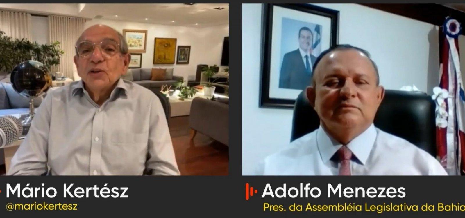 """Chefe interino do executivo baiano, Adolfo Menezes brinca: """"Nem quero andar no carro do governador"""""""