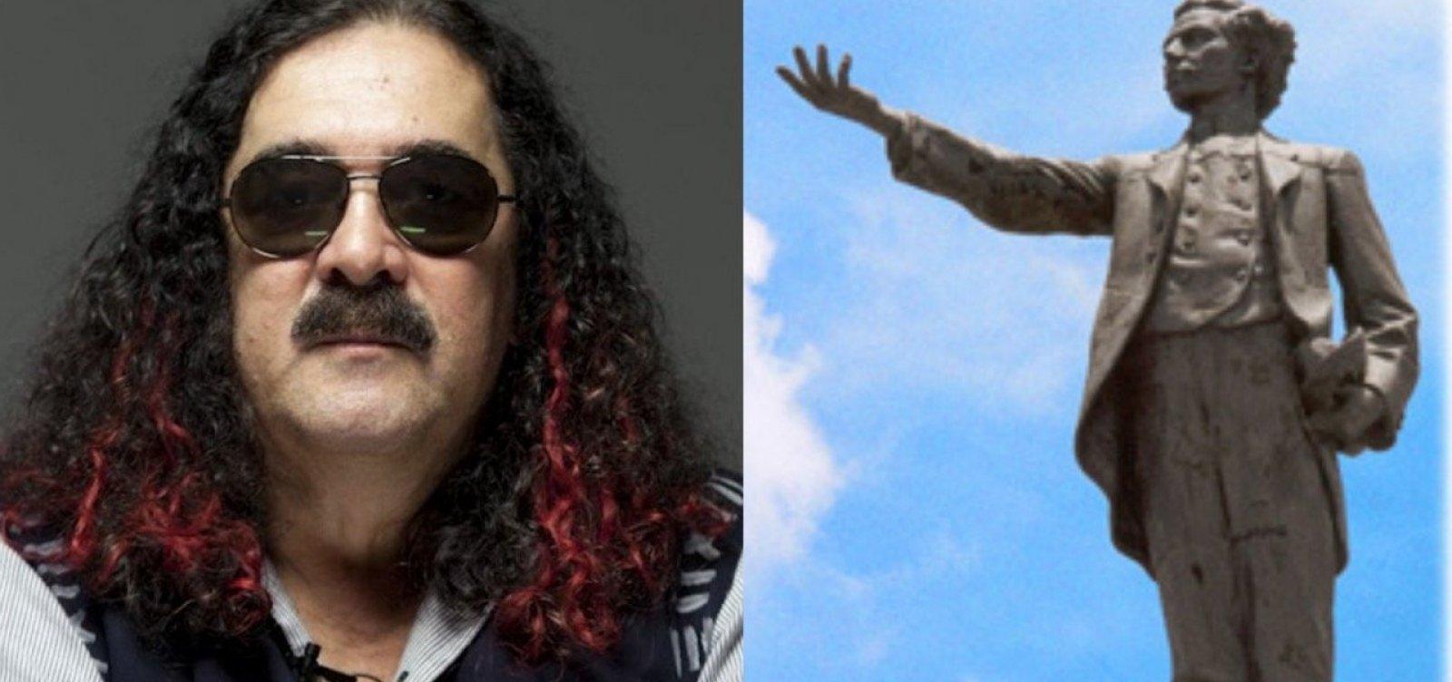 Artista que imortalizou a praça, Moraes Moreira ganhará estátua ao lado de Castro Alves