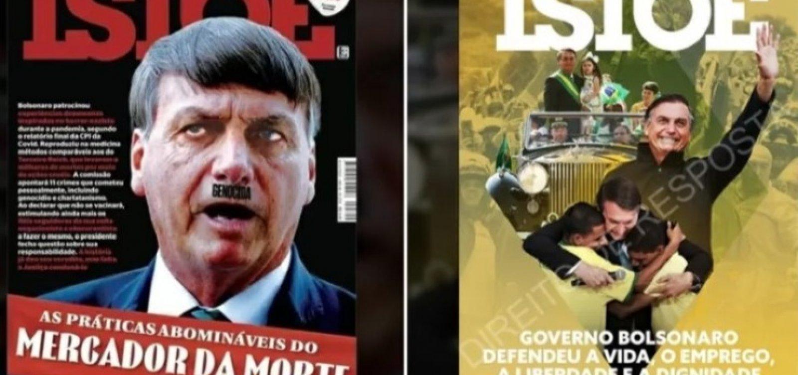 AGU sugere capa verde e amarela para revista IstoÉ em pedido de retratação a Bolsonaro