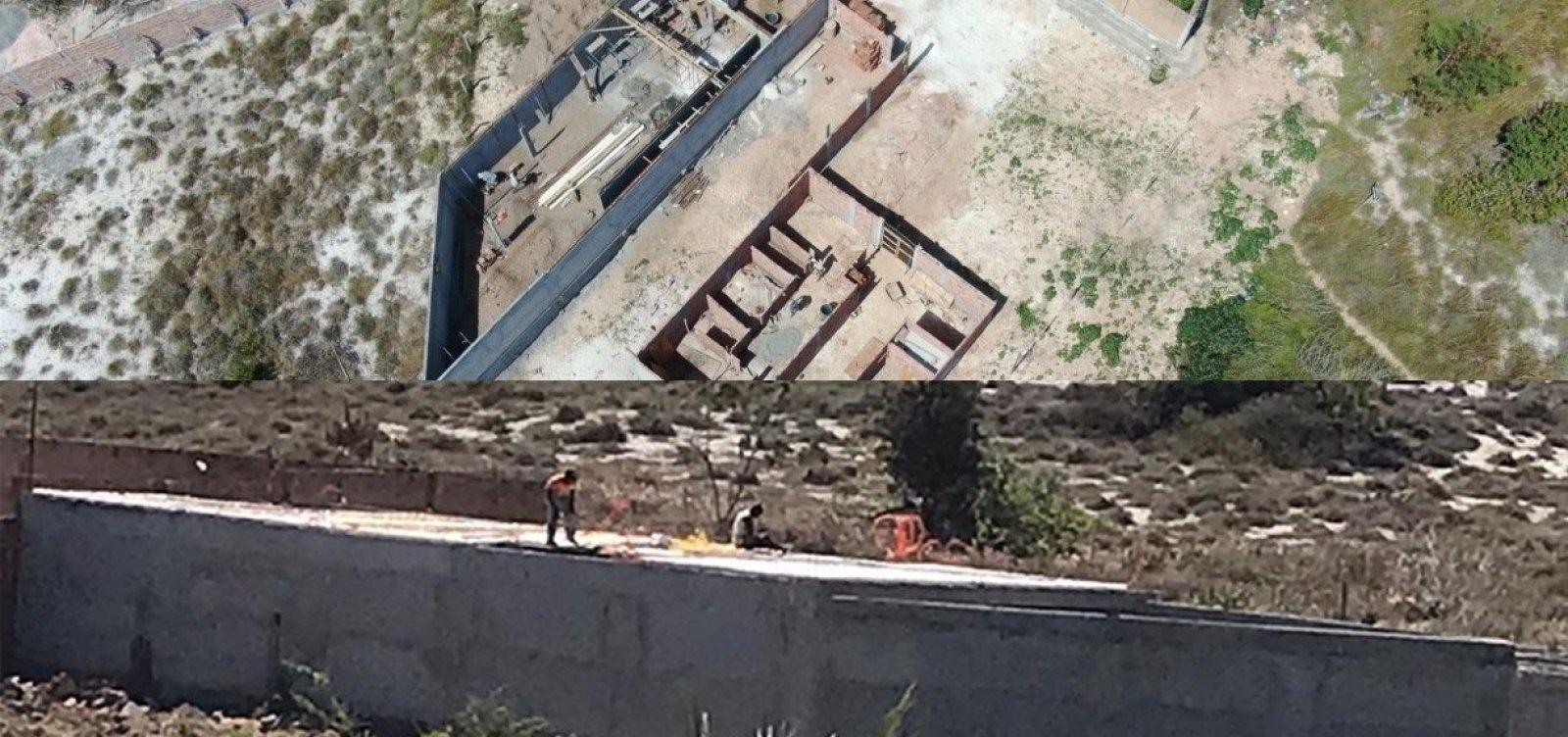 Mesmo após embargo da Sedur, invasores do Abaeté avançam com construções das casas