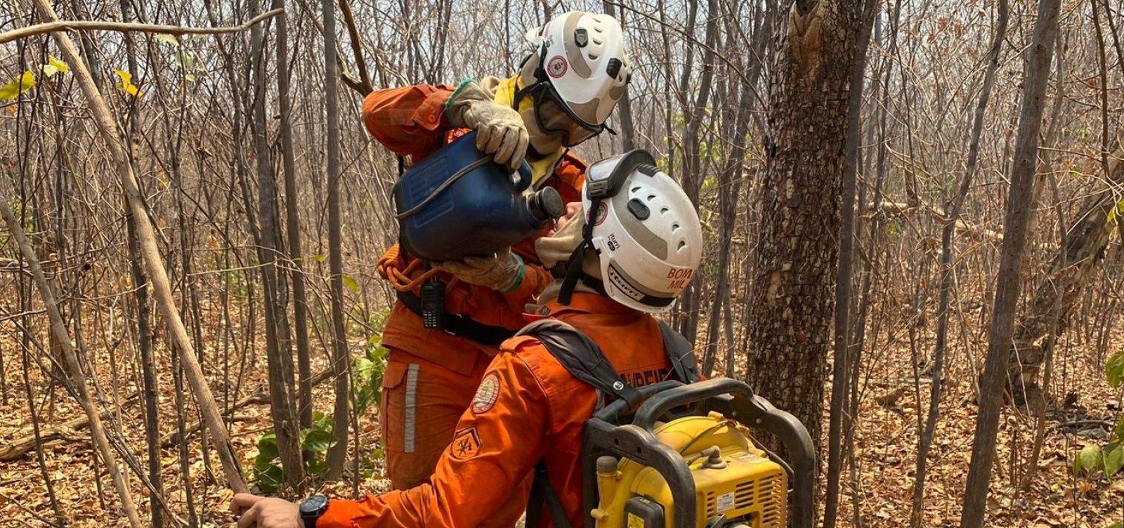 Bombeiros seguem no combate a incêndios no oeste e norte; Chapada tem novo foco