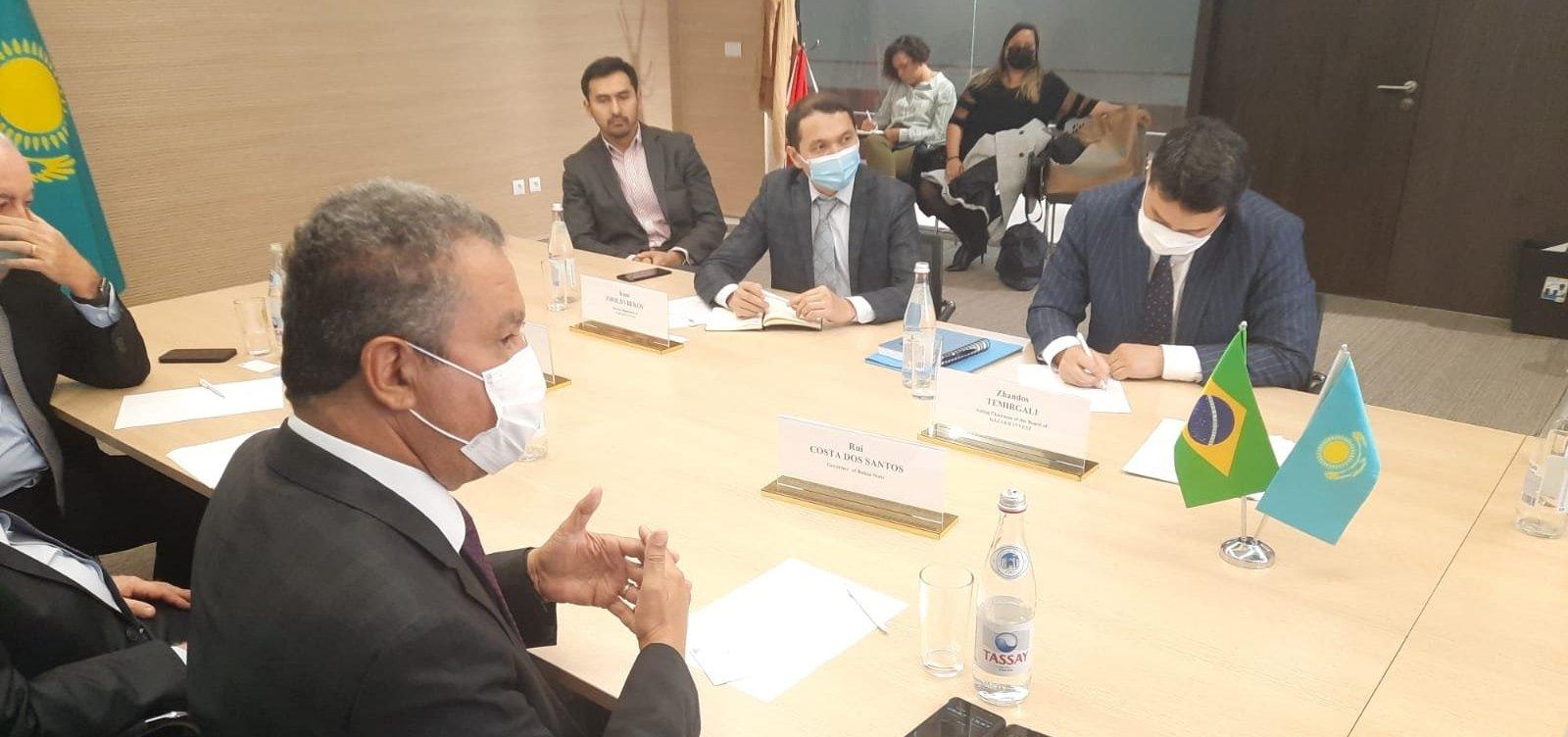 No Cazaquistão, governador Rui Costa se reúne com ministros e agência de investimentos