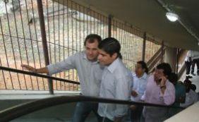 Escada rolante da Estação da Lapa para enquanto prefeito era transportado