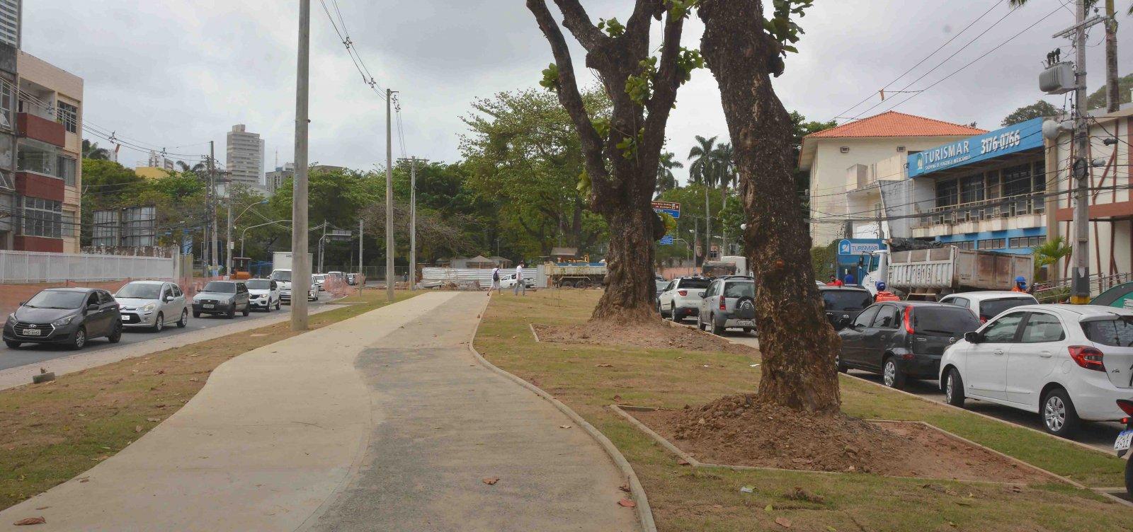 Forte chuva atrasa entrega de obra de revitalização em Ondina