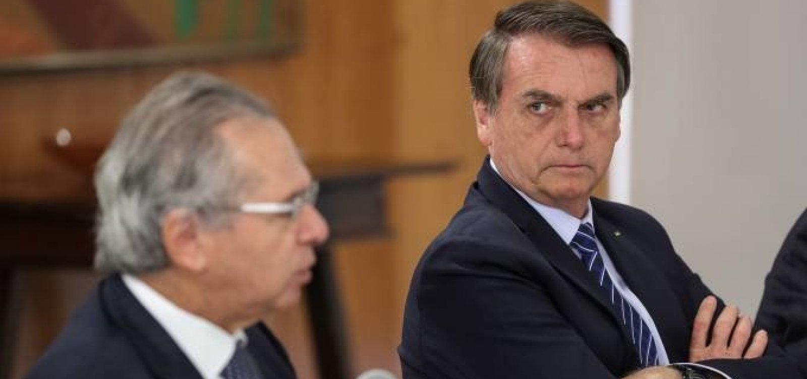"""Bolsonaro diz que tem confiança absoluta em Guedes: """"não faremos nenhuma aventura"""""""