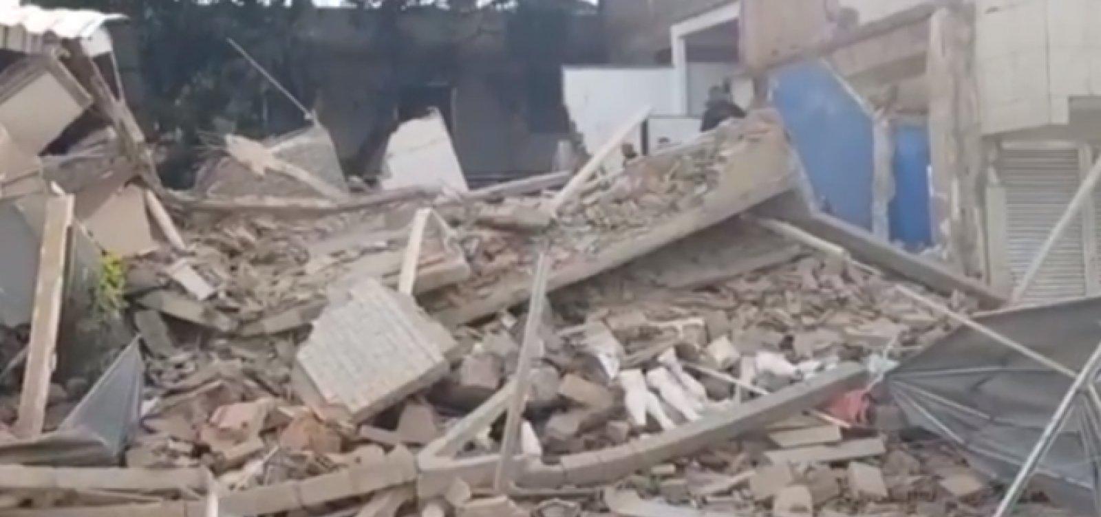 Prédio que desabou no Rio de Janeiro deixa um morto e três feridos