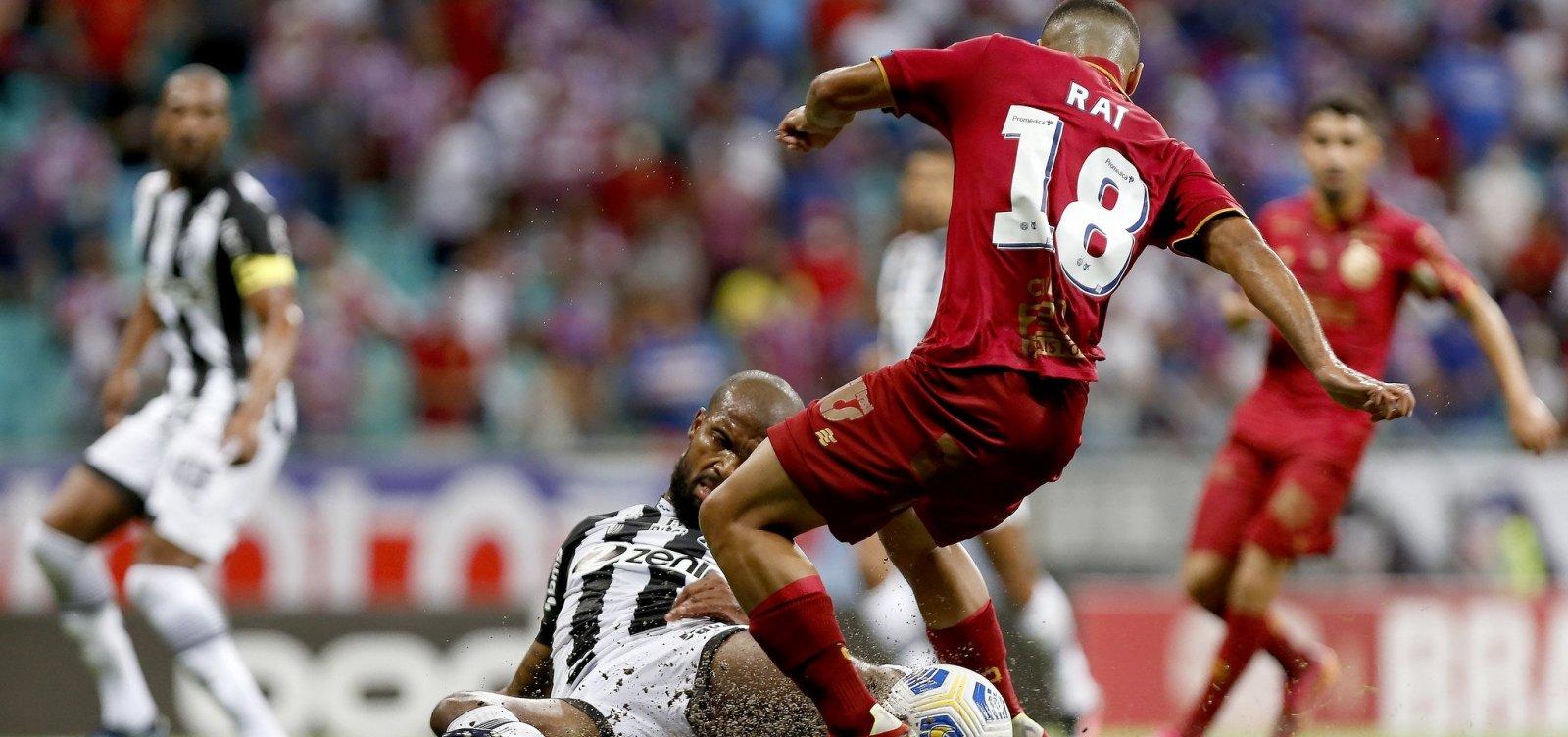 Bahia fica no empate em 1 a 1 com o Ceará na Fonte Nova