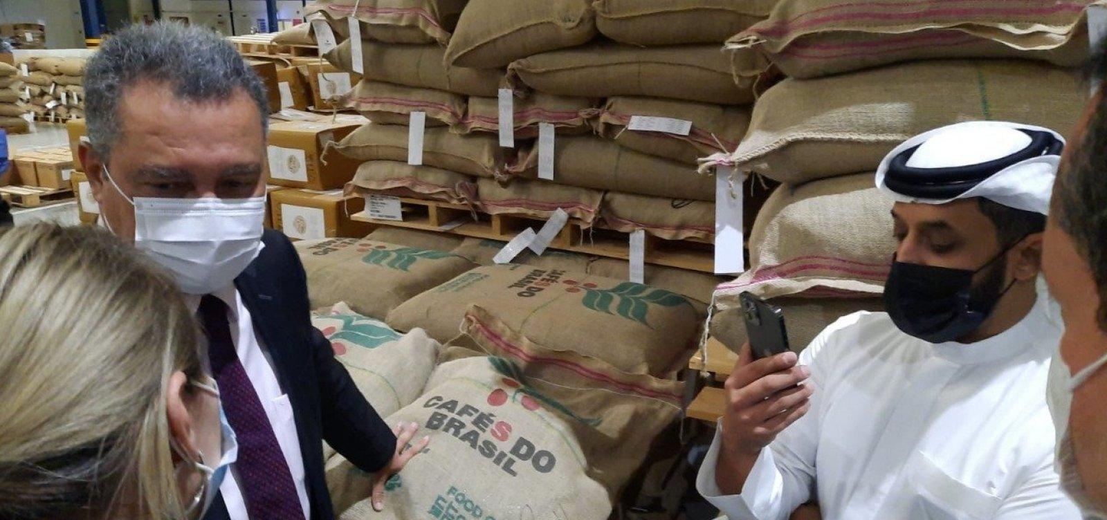 Bahia exportará cacau para os Emirados Árabes, anuncia Rui em agenda em Dubai