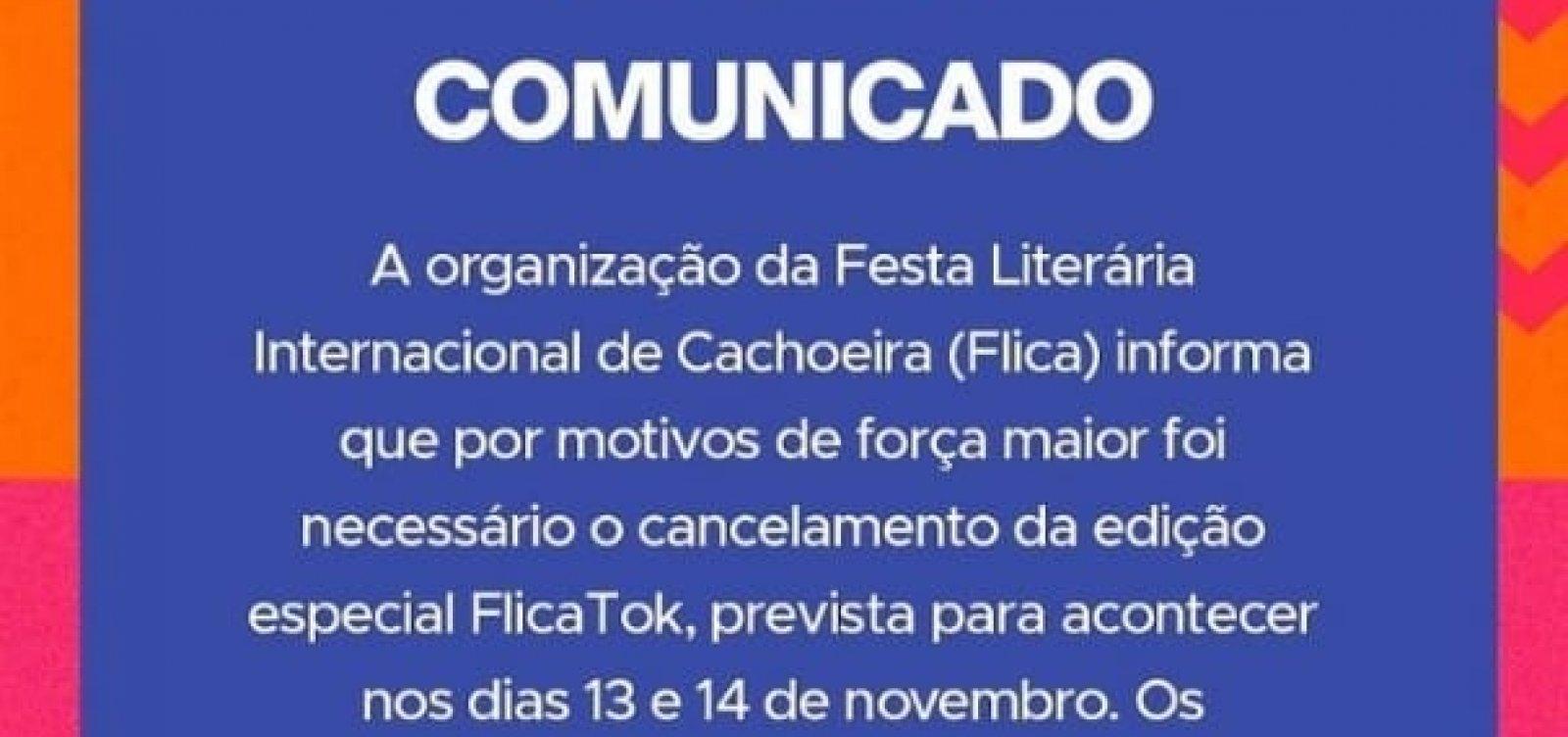 Organização da Flica cancela edição de 2021