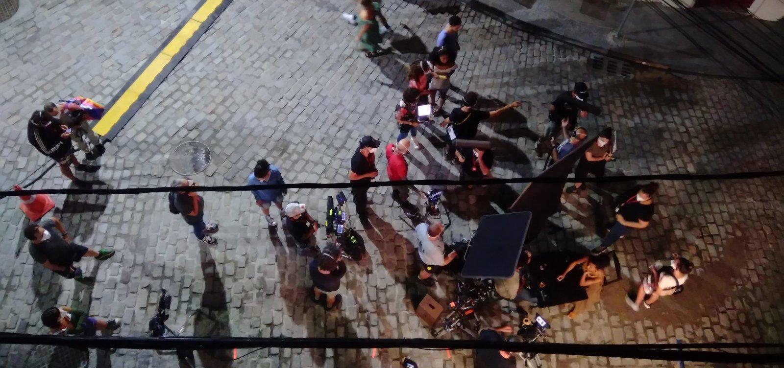 Em Salvador, Bruno Gagliasso grava cenas da nova série da Netflix; veja vídeo