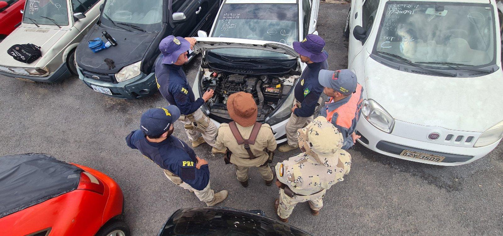 PRF prende 13 suspeitos de roubo, furto e adulteração de veículos em Barreiras