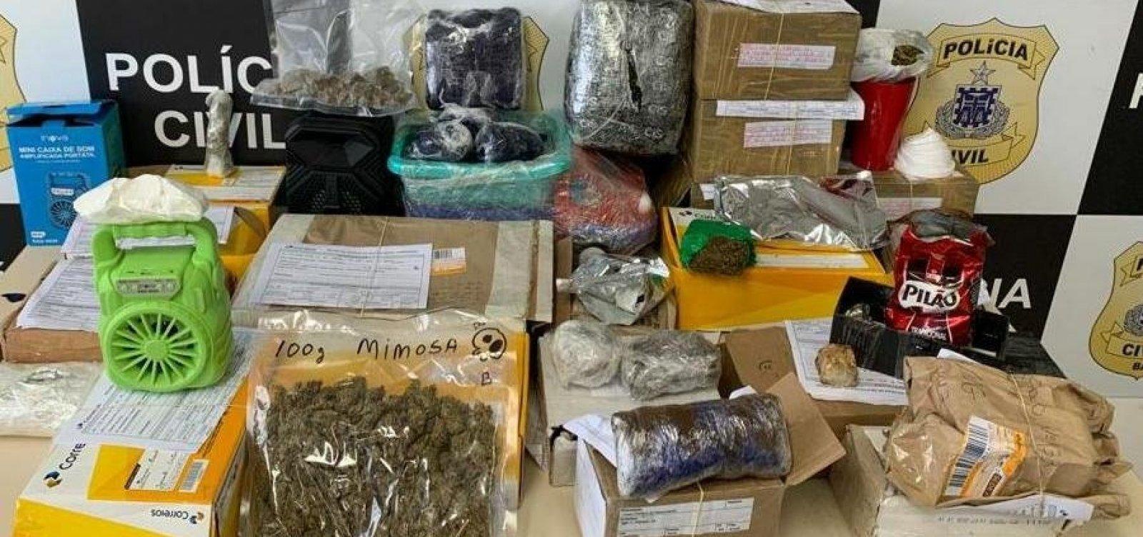Polícia apreende três quilos de maconha e crack em encomendas dos Correios na BA 535