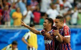 Bahia empata com o Santos por 2 a 2 em jogo comemorativo na Fonte Nova