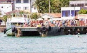 Maré baixa interrompe por 2h travessia Salvador-Mar Grande neste domingo