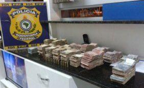 PRF apreende munições e mais de R$160 mil em carro