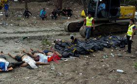 Embarcação naufraga e treze pessoas morrem afogadas na Malásia