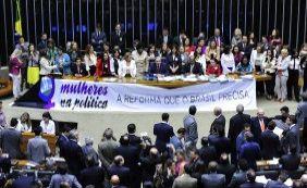 Deputados rejeitam cota para mulheres no Legislativo; confira votação de baianos