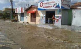 Nível do rio Itapicuru sobe e invade ruas da cidade do Conde