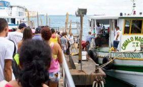 Passageiros encontram fluxo intenso na travessia Mar Grande-Salvador