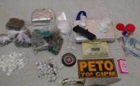 Suspeito de tráfico é preso com dois quilos de drogas em Ihéus