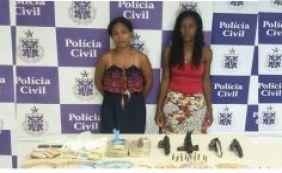 Traficantes são presas com drogas que seriam comercializadas no Carnaval