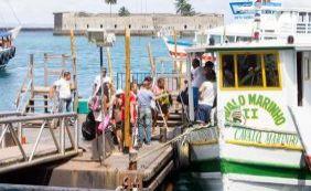 Travessia faz parada forçada de duas horas por conta de maré baixa