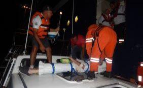 Passageiro passa mal dentro de navio e é socorrido pelo Salvamar em Ilhéus
