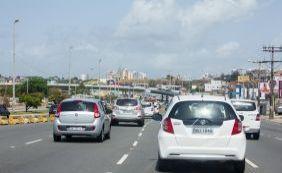 Motoristas enfrentam engarrafamento na Via Expressa e região; confira o trânsito