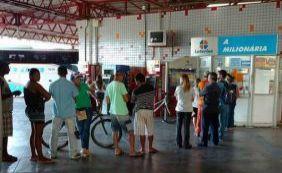 Bandido usa bilhete de aposta para anunciar assalto em lotérica de Conquista