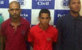 Três homens são presos após operação contra o tráfico em Lauro de Freitas