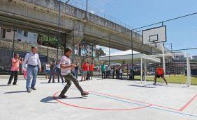 Entrega de nova quadra poliesportiva é novidade na região da Avenida Bonocô