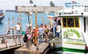 Maré baixa interrompe por 1h30 travessia Salvador-Mar Grande nesta segunda