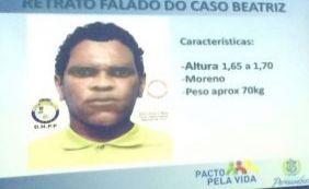 Polícia divulga retrato falado de suspeito de assassinar menina em Petrolina