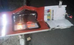 Porta de ambulância é arrancada por ônibus em Sete de Abril