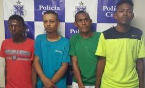 Quatro homens são presos e adolescente apreendido por tráfico e assalto