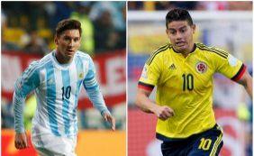 Colômbia e Argentina duelam pelas quartas da Copa América; ouça boletins