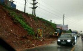 Deslizamento na avenida São Rafael é um dos 20 registrados nesta manhã