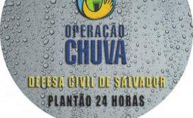 Com chuvas, Defesa Civil registra nove pedidos de emergência em Salvador